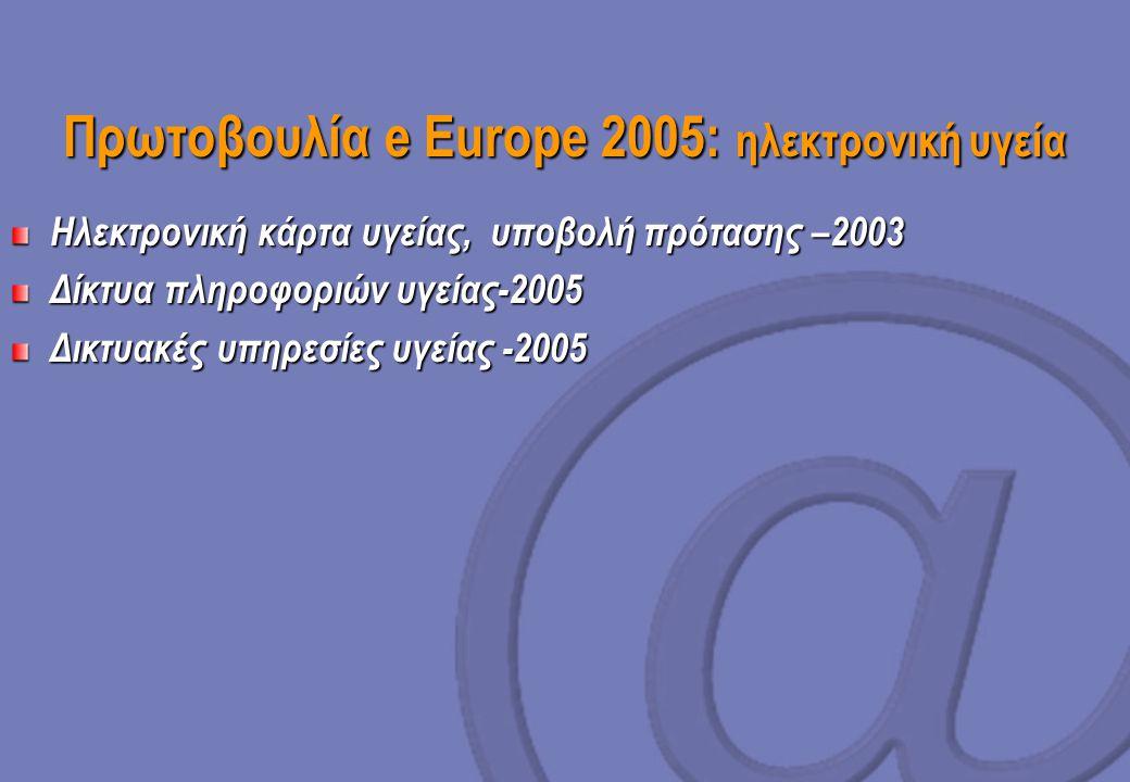 Πρωτοβουλία e Europe 2005: ηλεκτρονική υγεία