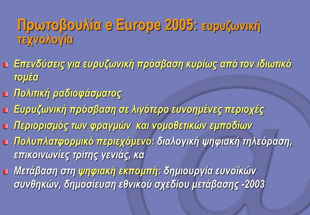 Πρωτοβουλία e Europe 2005: ευρυζωνική τεχνολογία