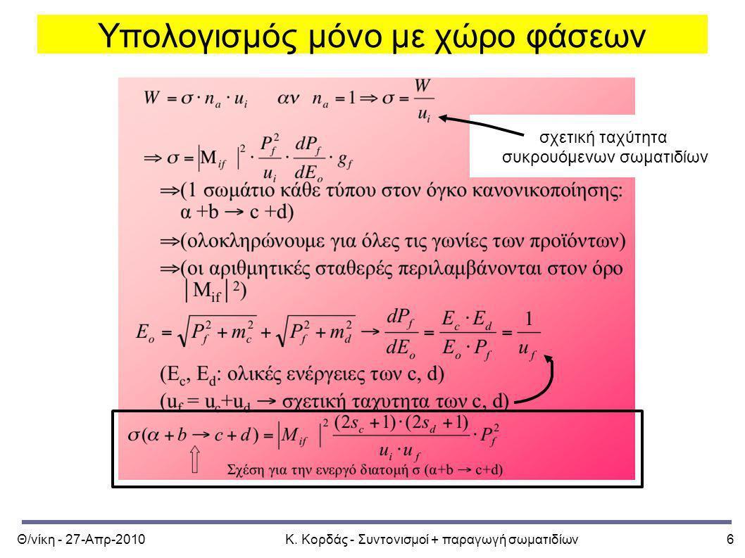 Υπολογισμός μόνο με χώρο φάσεων