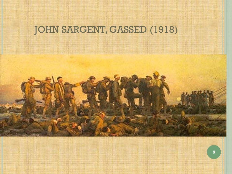 JOHN SARGENT, GASSED (1918)
