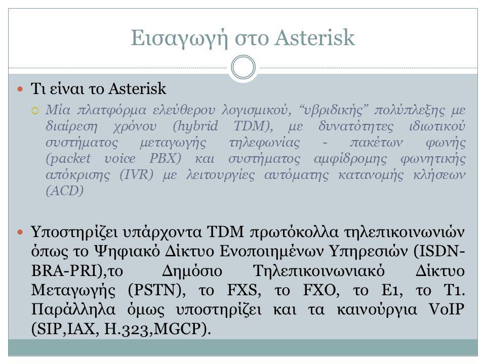 Εισαγωγή στο Asterisk Τι είναι το Asterisk