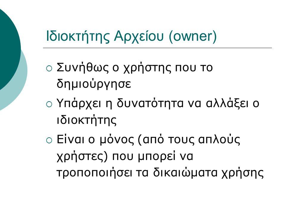 Ιδιοκτήτης Αρχείου (owner)