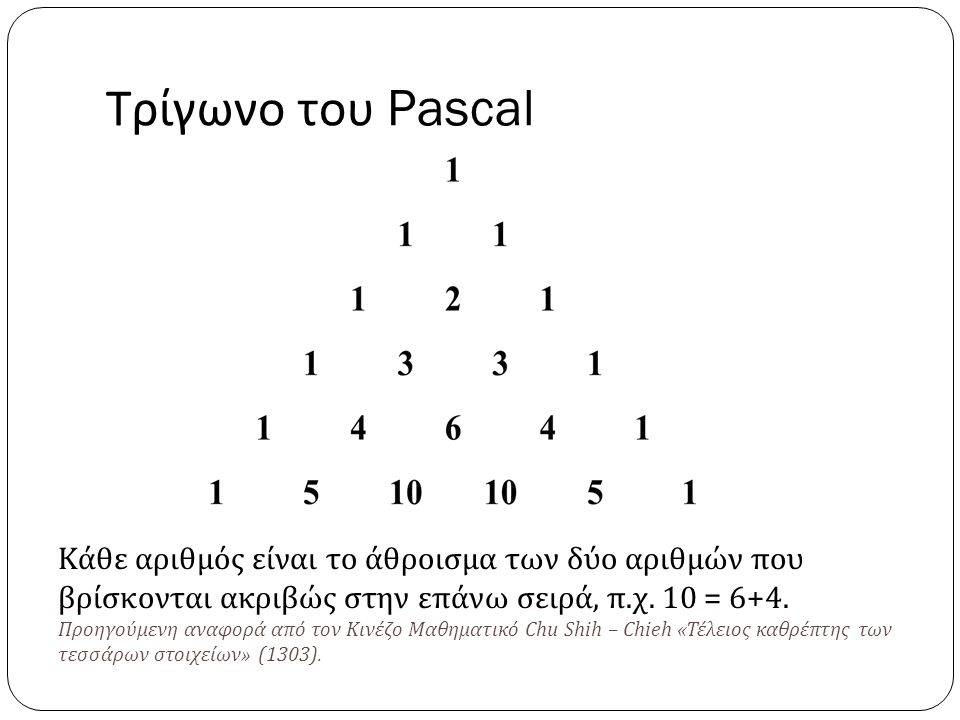 Τρίγωνο του Pascal