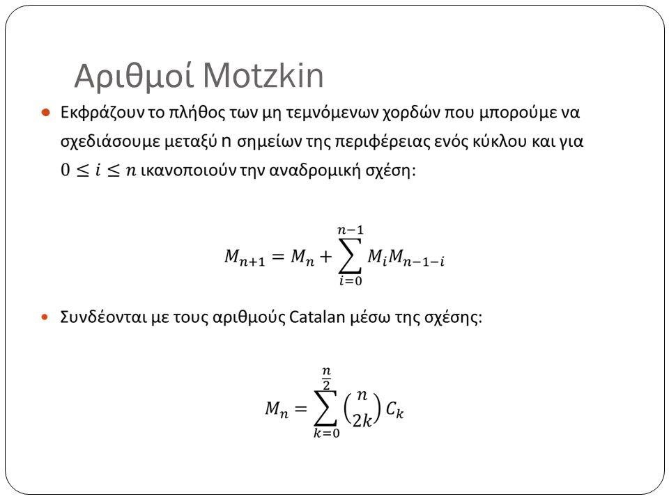 Αριθμοί Motzkin