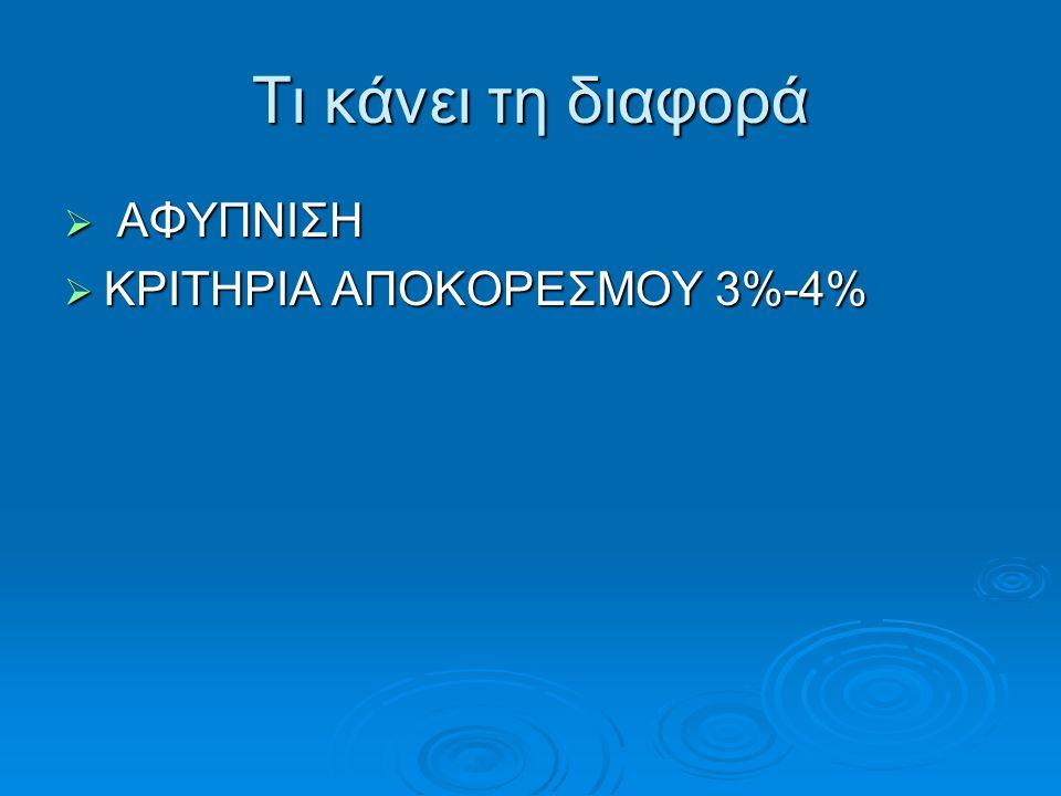 Τι κάνει τη διαφορά ΑΦΥΠΝΙΣΗ ΚΡΙΤΗΡΙΑ ΑΠΟΚΟΡΕΣΜΟΥ 3%-4%