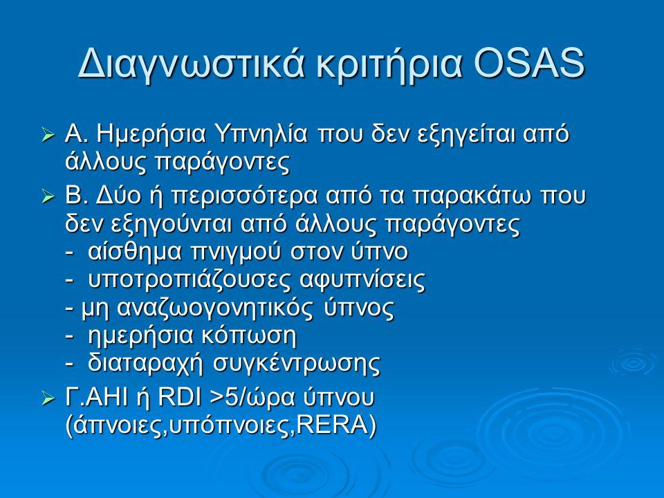 Διαγνωστικά κριτήρια OSAS