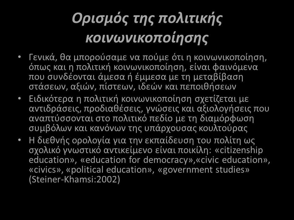 Ορισμός της πολιτικής κοινωνικοποίησης