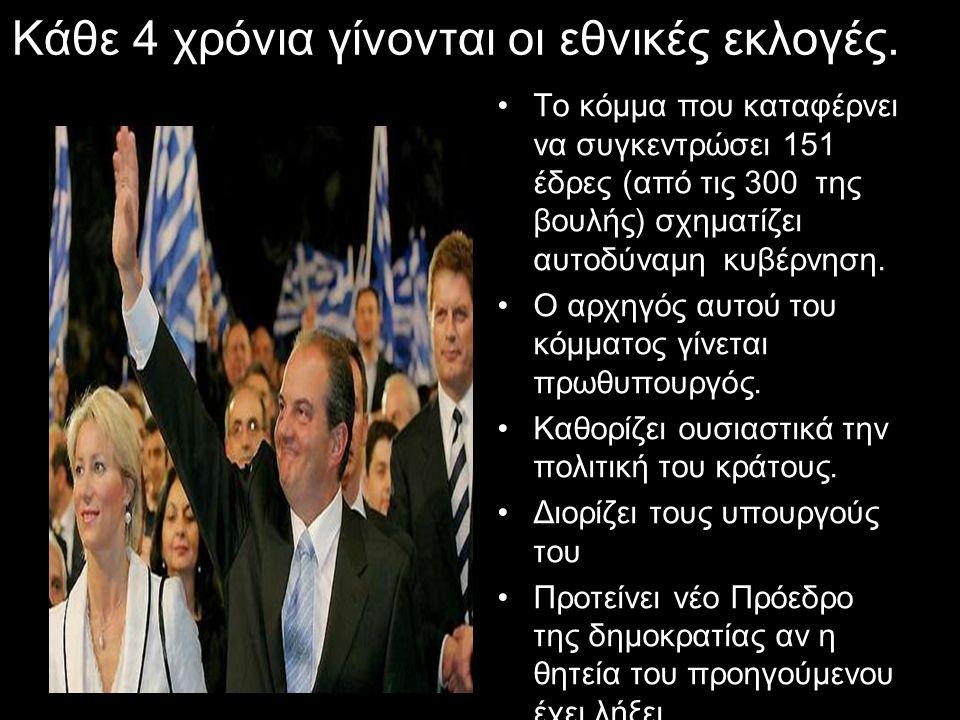 Kάθε 4 χρόνια γίνονται οι εθνικές εκλογές.