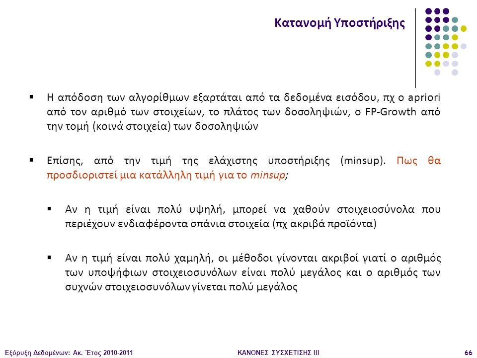 ΚΑΝΟΝΕΣ ΣΥΣΧΕΤΙΣΗΣ III