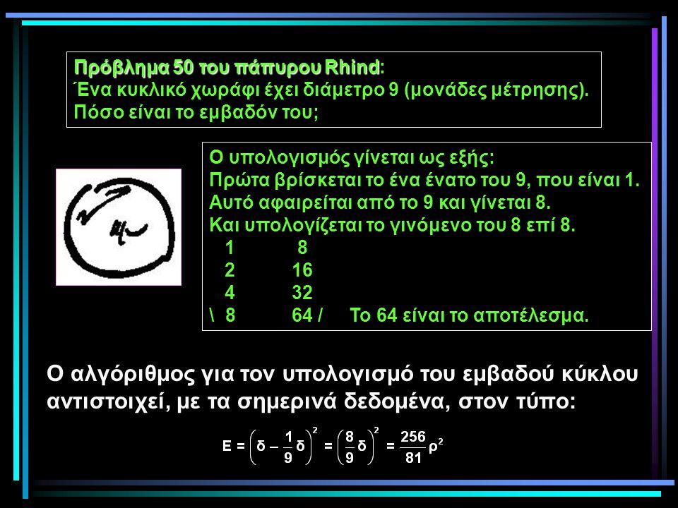 Ο αλγόριθμος για τον υπολογισμό του εμβαδού κύκλου