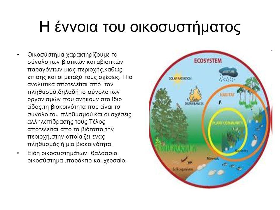 Η έννοια του οικοσυστήματος