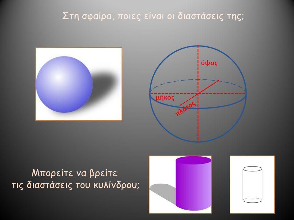 τις διαστάσεις του κυλίνδρου;