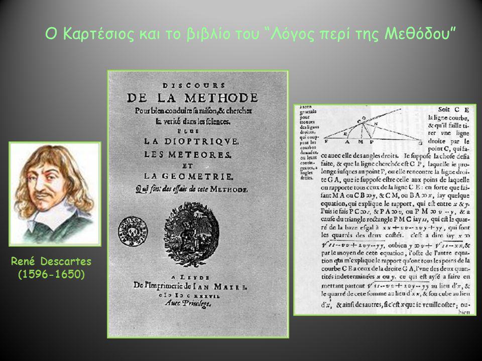 Ο Καρτέσιος και το βιβλίο του Λόγος περί της Μεθόδου