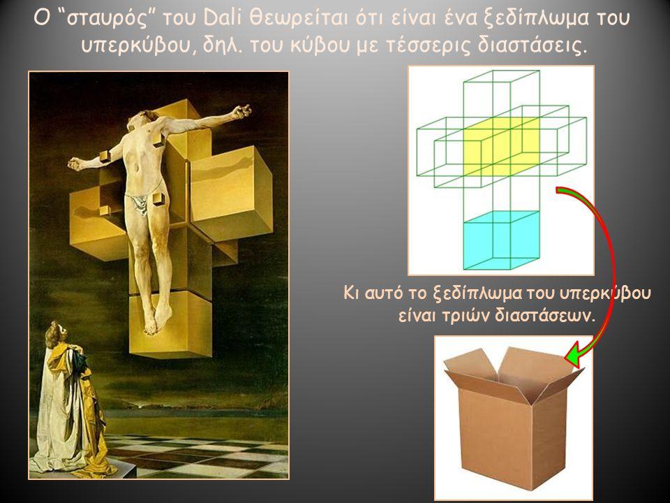 Ο σταυρός του Dali θεωρείται ότι είναι ένα ξεδίπλωμα του