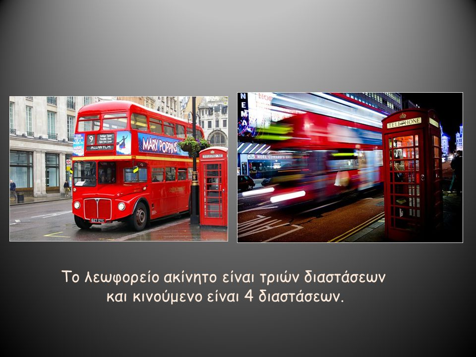 Το λεωφορείο ακίνητο είναι τριών διαστάσεων