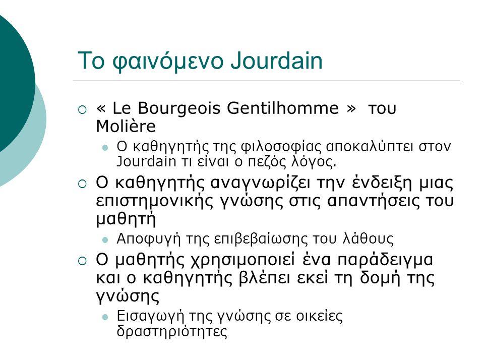 Το φαινόμενο Jourdain « Le Bourgeois Gentilhomme » του Molière