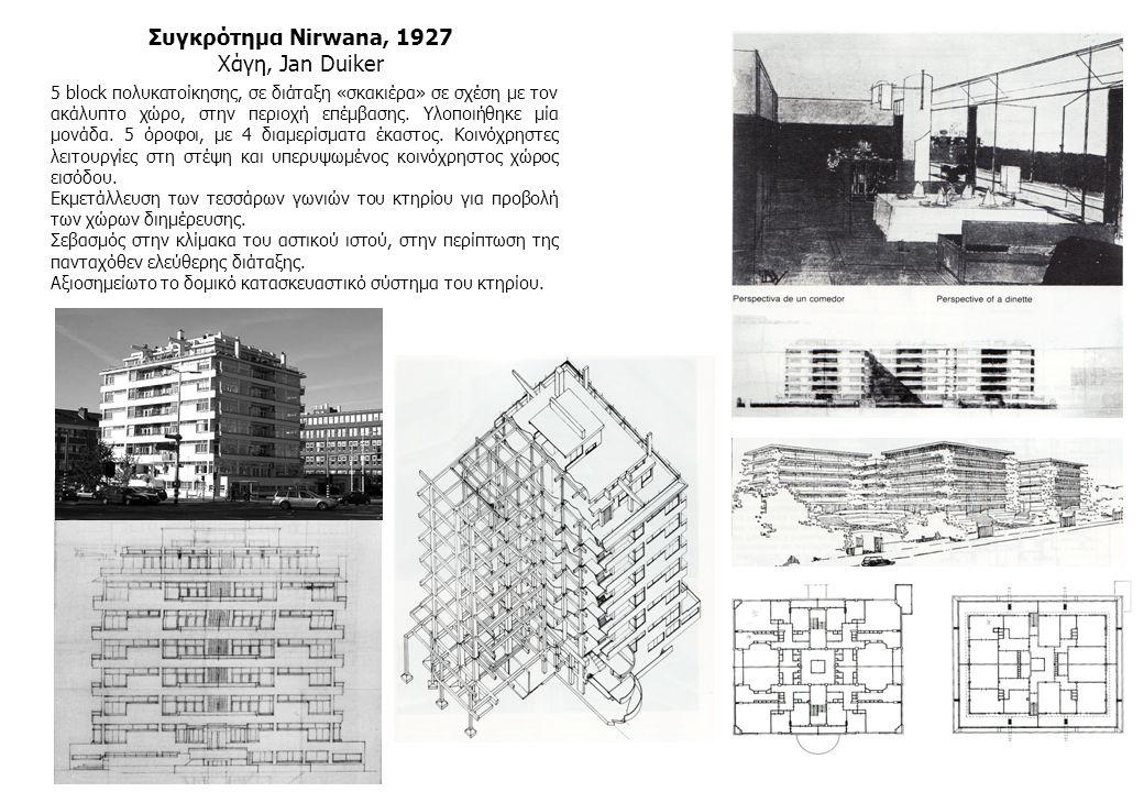 Συγκρότημα Nirwana, 1927 Χάγη, Jan Duiker