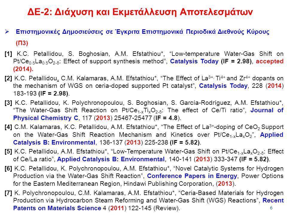 ΔΕ-2: Διάχυση και Εκμετάλλευση Αποτελεσμάτων