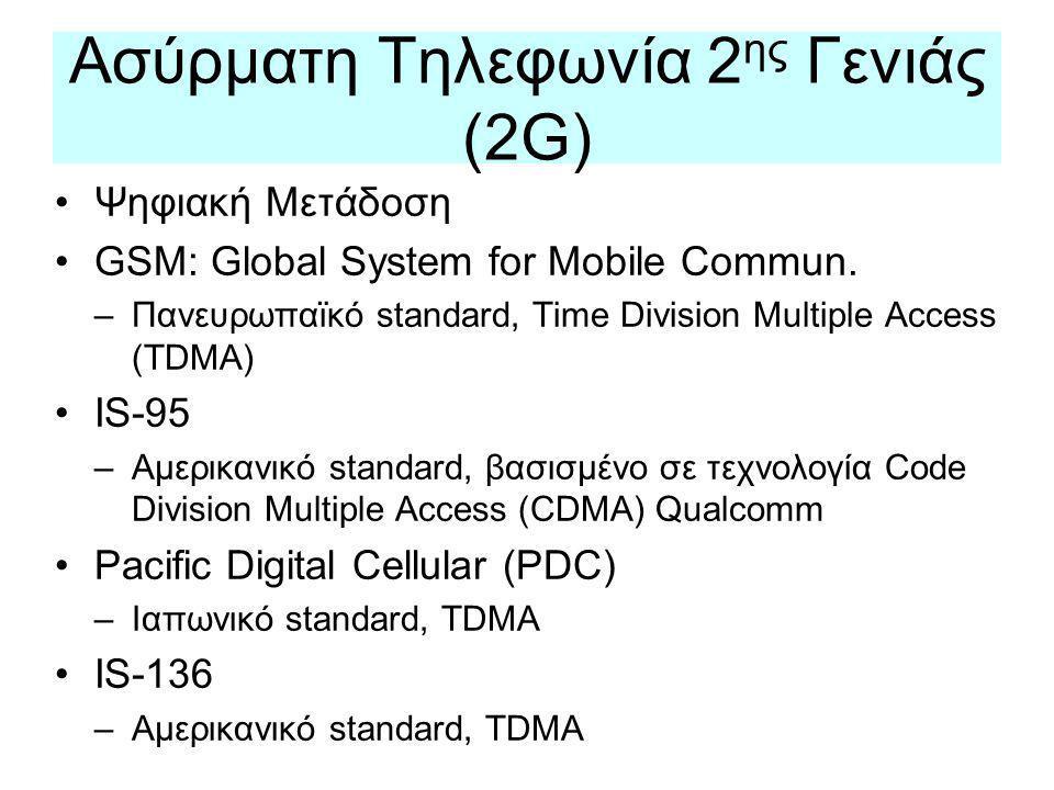 Ασύρματη Τηλεφωνία 2ης Γενιάς (2G)