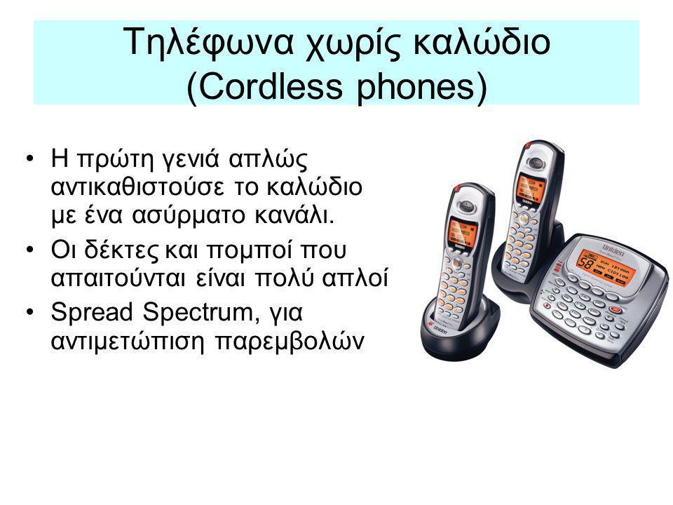 Τηλέφωνα χωρίς καλώδιο (Cordless phones)