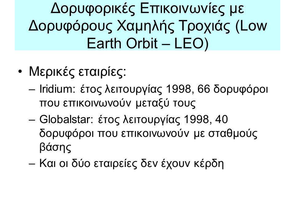 Δορυφορικές Επικοινωνίες με Δορυφόρους Χαμηλής Τροχιάς (Low Earth Orbit – LEO)