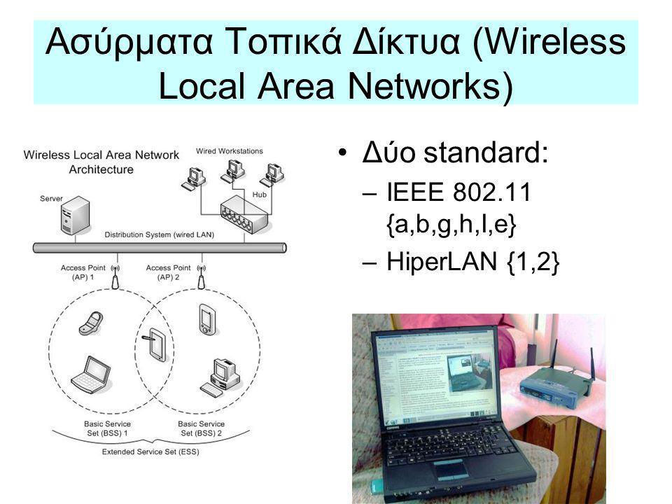 Ασύρματα Τοπικά Δίκτυα (Wireless Local Area Networks)