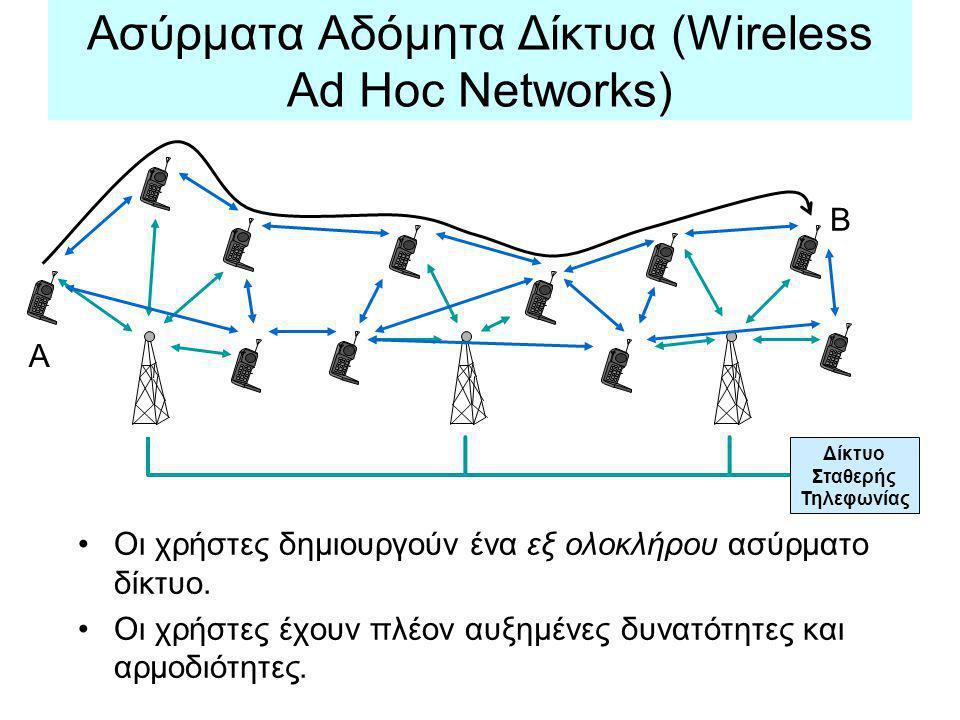 Ασύρματα Αδόμητα Δίκτυα (Wireless Ad Hoc Networks)
