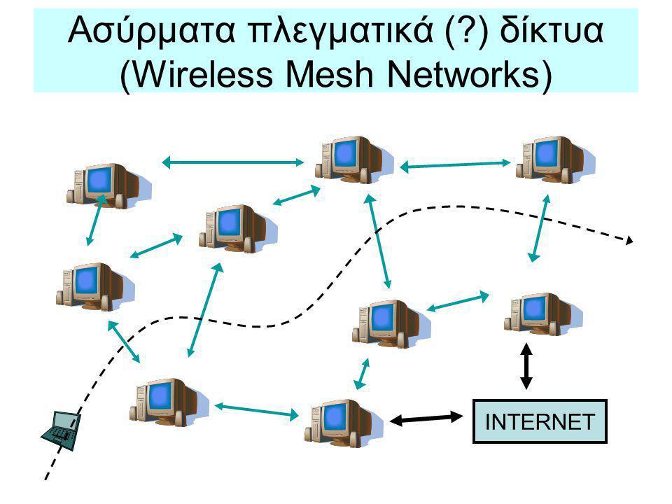 Ασύρματα πλεγματικά ( ) δίκτυα (Wireless Mesh Networks)