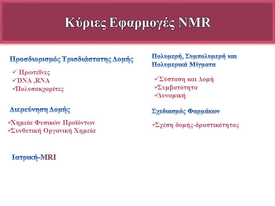Κύριες Εφαρμογές NMR Προσδιορισμός Τρισδιάστατης Δομής