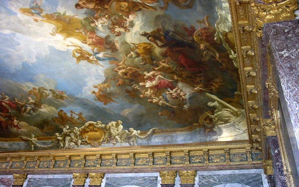 Plafond du salon d' Hercule du Château de Versailles