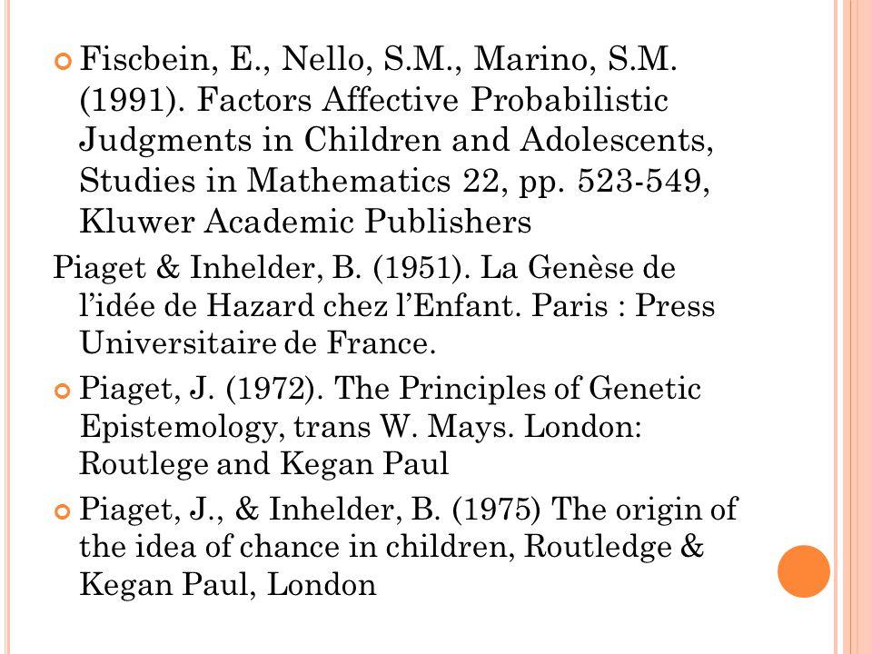 Fiscbein, E. , Nello, S. M. , Marino, S. M. (1991)