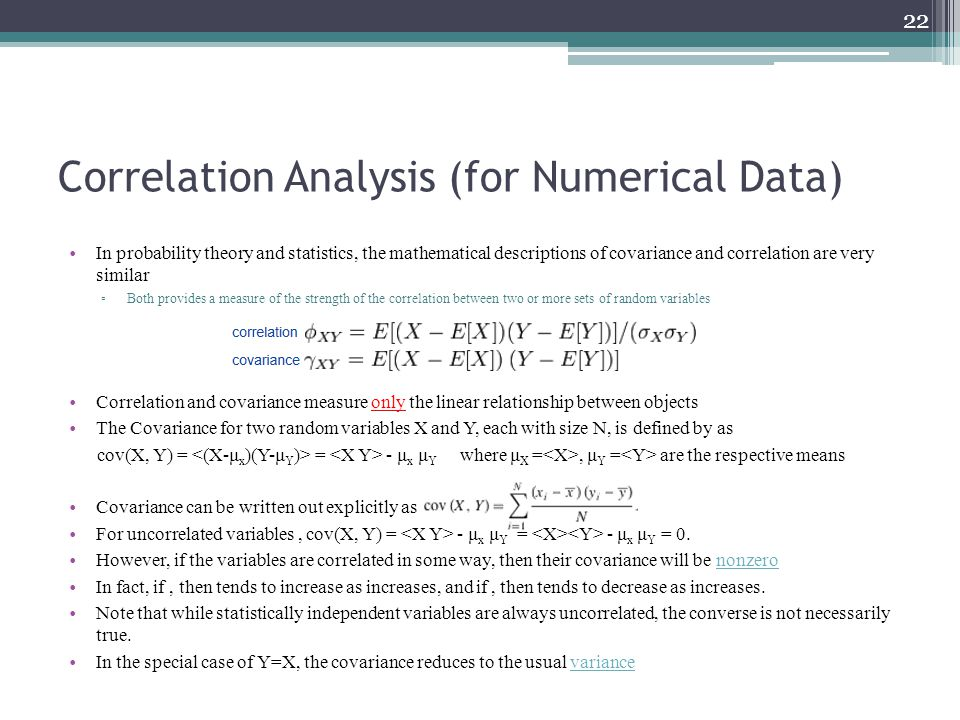 Correlation Analysis (for Numerical Data)