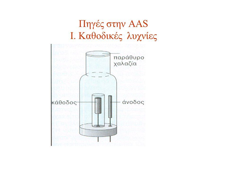 Πηγές στην AAS I. Kαθοδικές λυχνίες