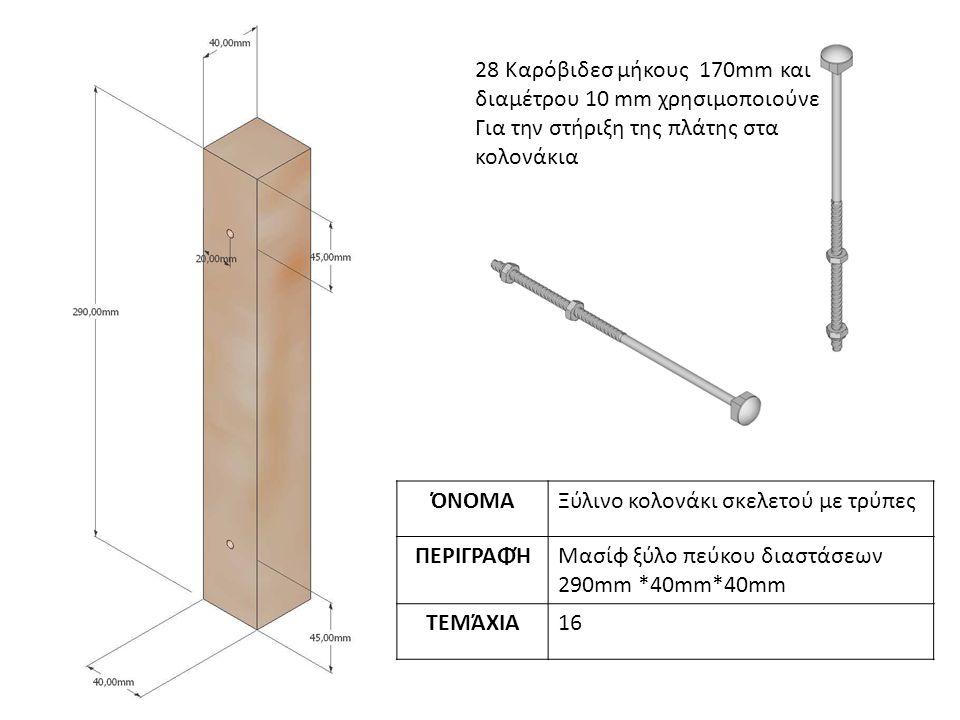 28 Καρόβιδεσ μήκους 170mm και