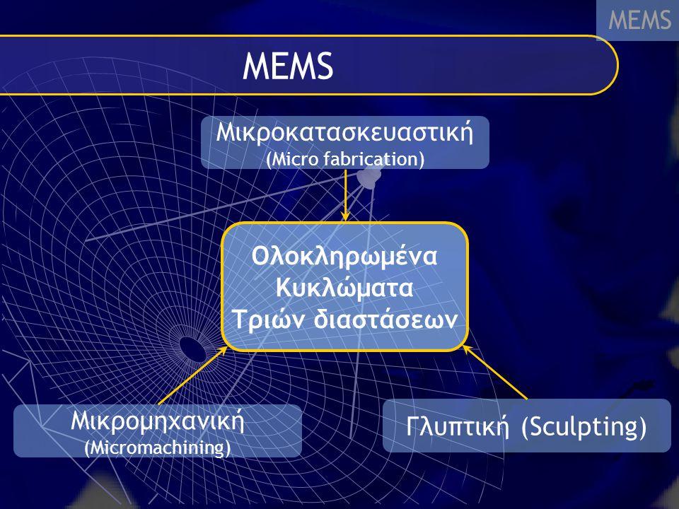 ΜΕΜS MEMS Μικροκατασκευαστική Ολοκληρωμένα Κυκλώματα Τριών διαστάσεων