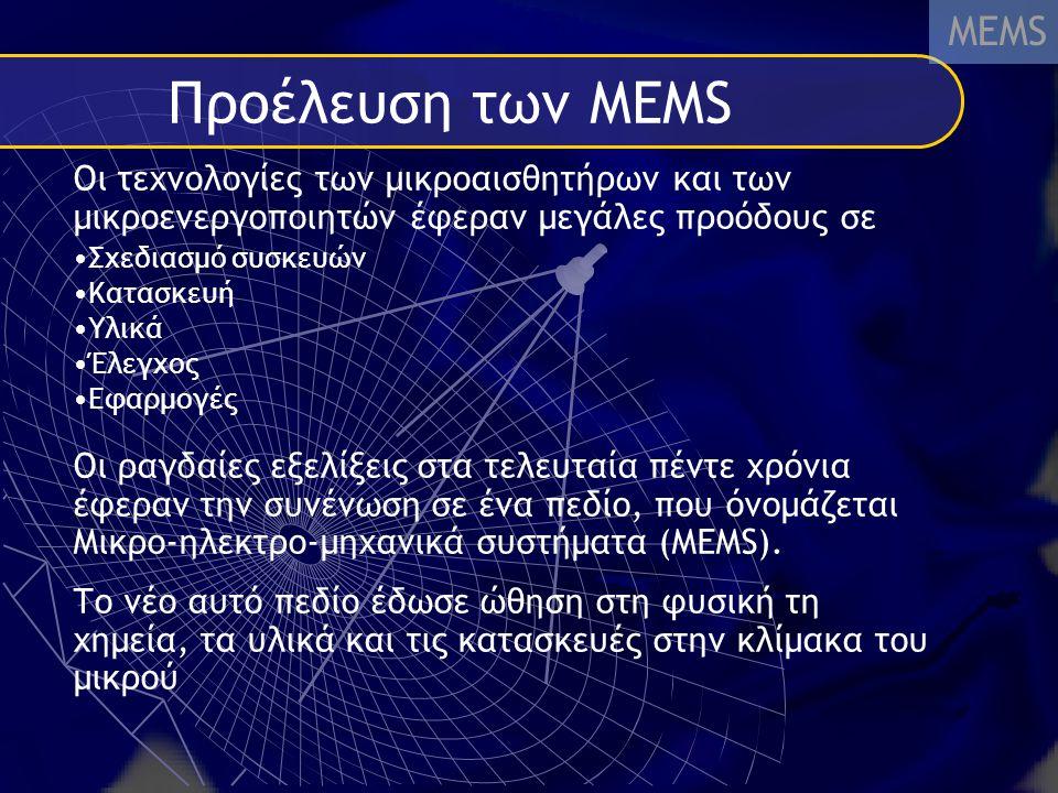 Προέλευση των ΜΕΜS MEMS