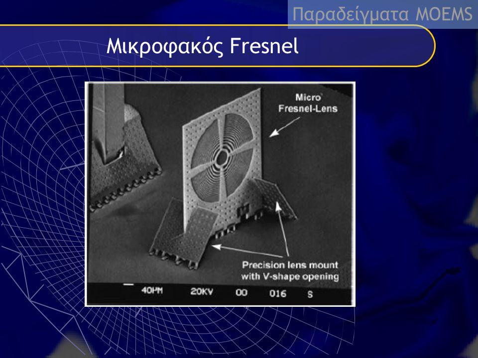 Παραδείγματα MΟEMS Μικροφακός Fresnel fdgdfgdhfghfgssdafsdf