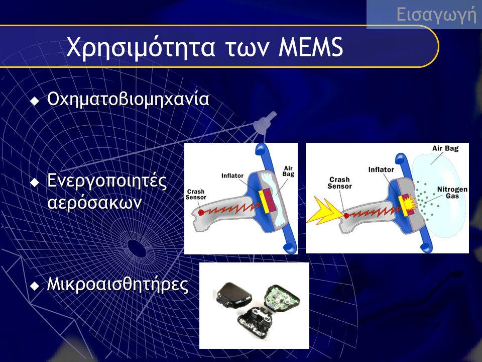 Χρησιμότητα των ΜΕΜS Εισαγωγή Oχηματοβιομηχανία