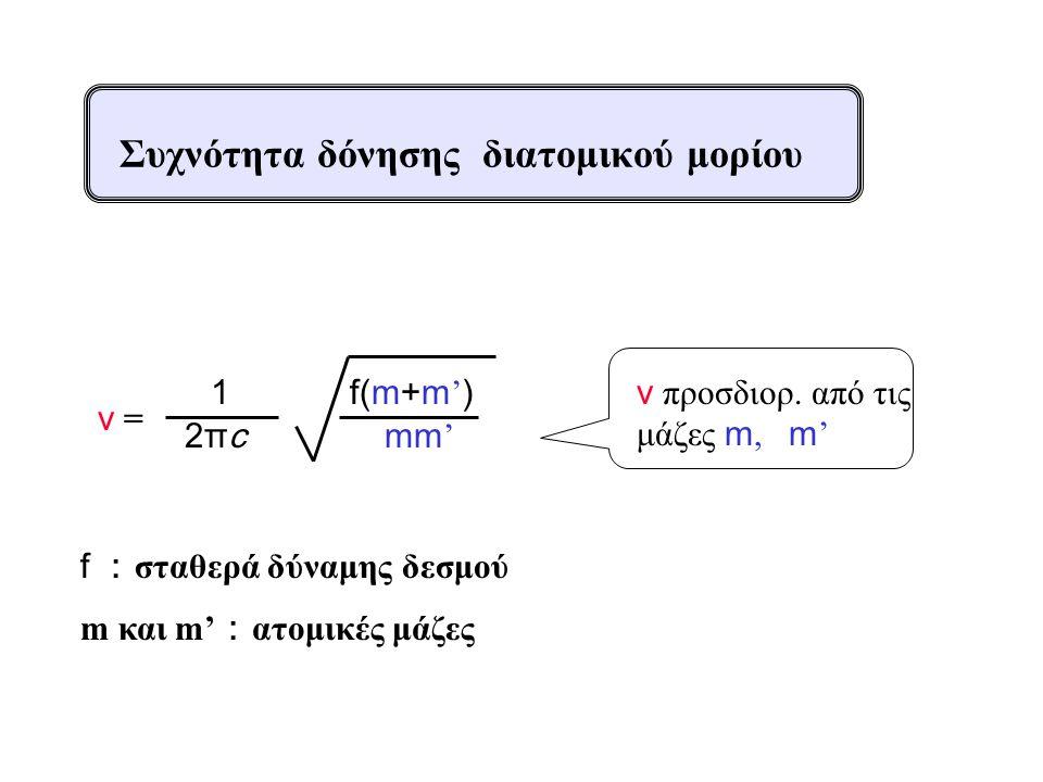 Συχνότητα δόνησης διατομικού μορίου