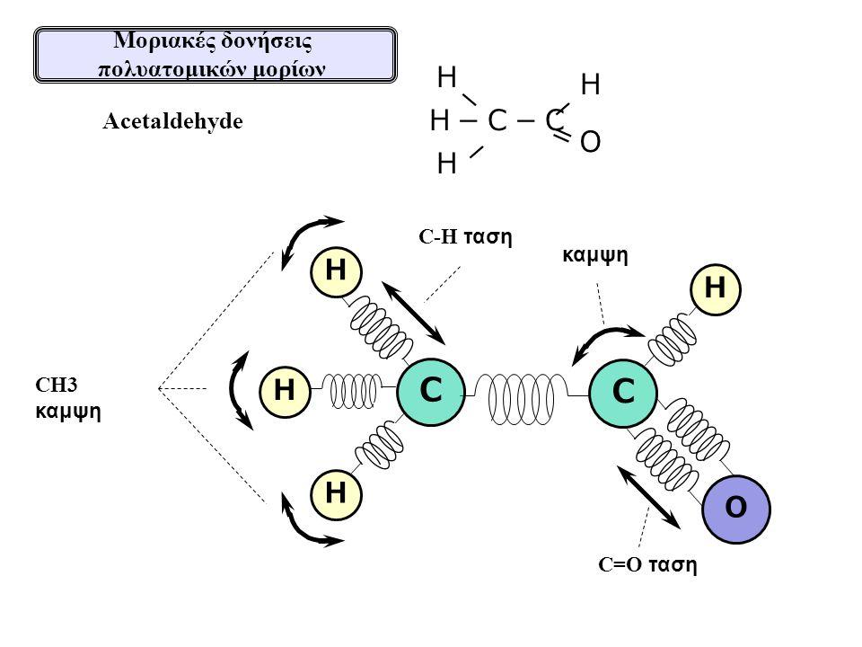 Μοριακές δονήσεις πολυατομικών μορίων