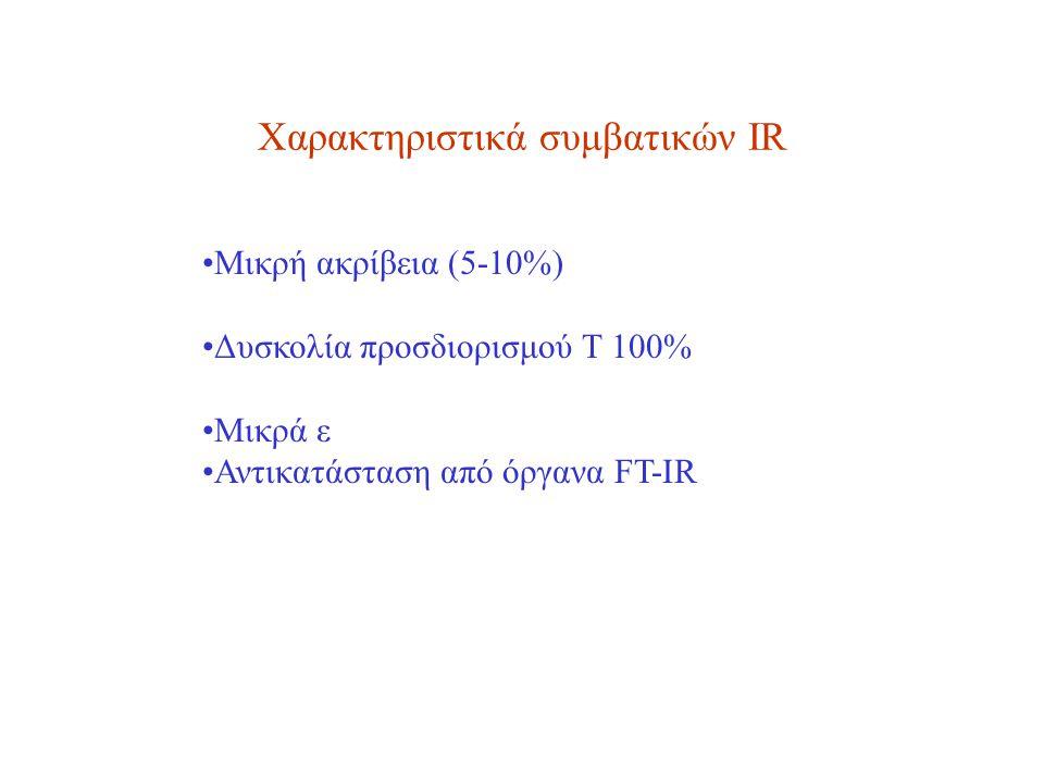 Χαρακτηριστικά συμβατικών IR