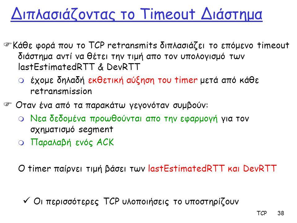 Διπλασιάζοντας το Timeout Διάστημα