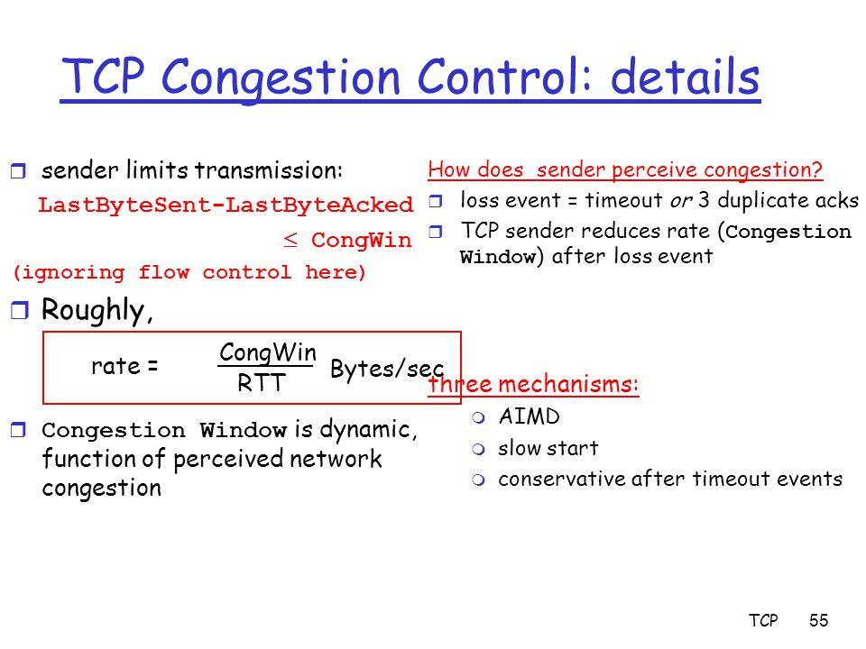 TCP Congestion Control: details