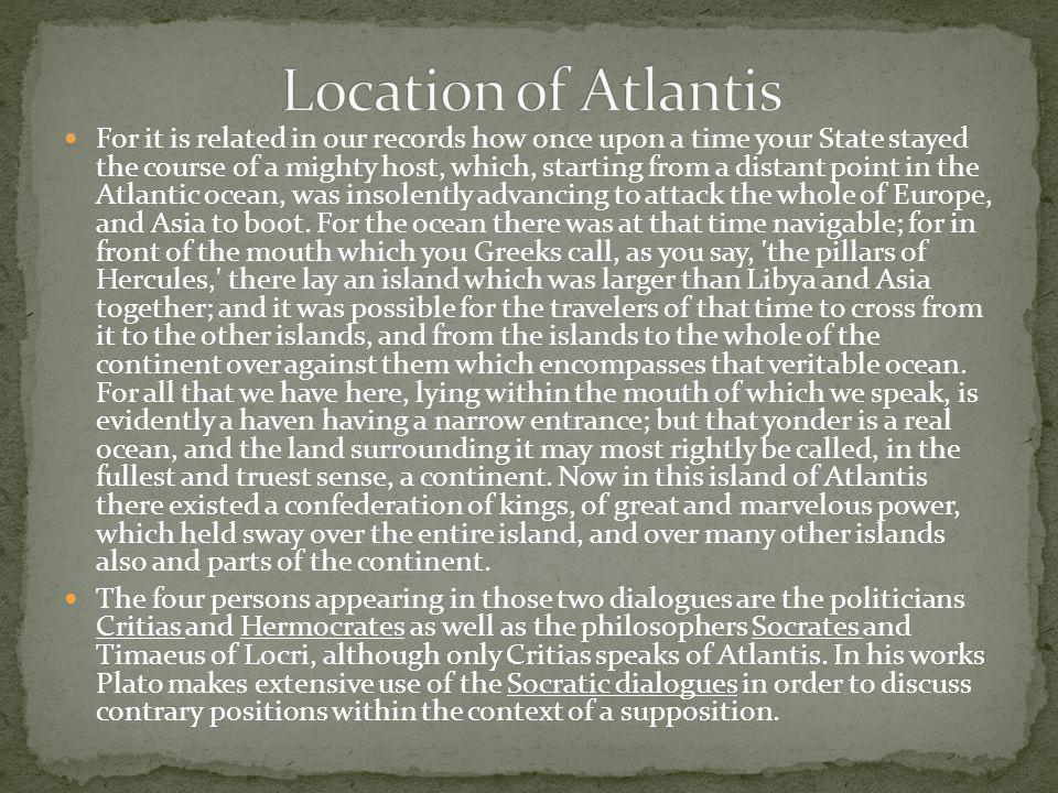 Location of Atlantis