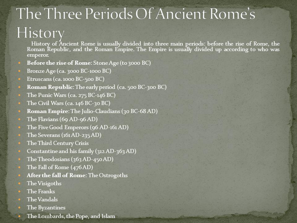 The Three Periods Of Ancient Rome's History