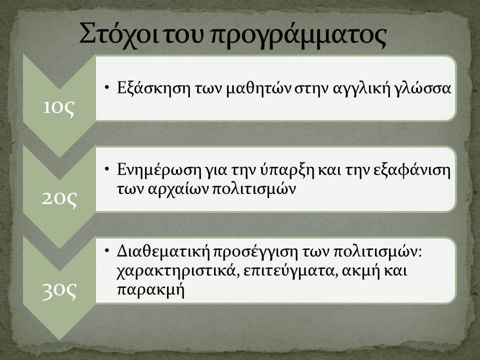 Στόχοι του προγράμματος
