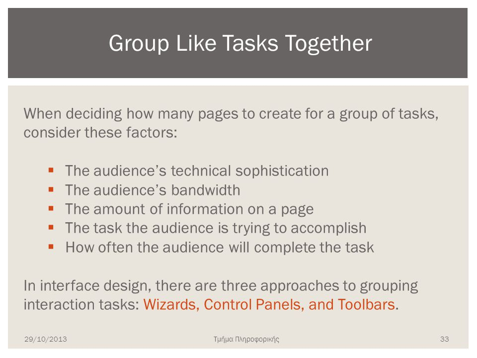 Group Like Tasks Together