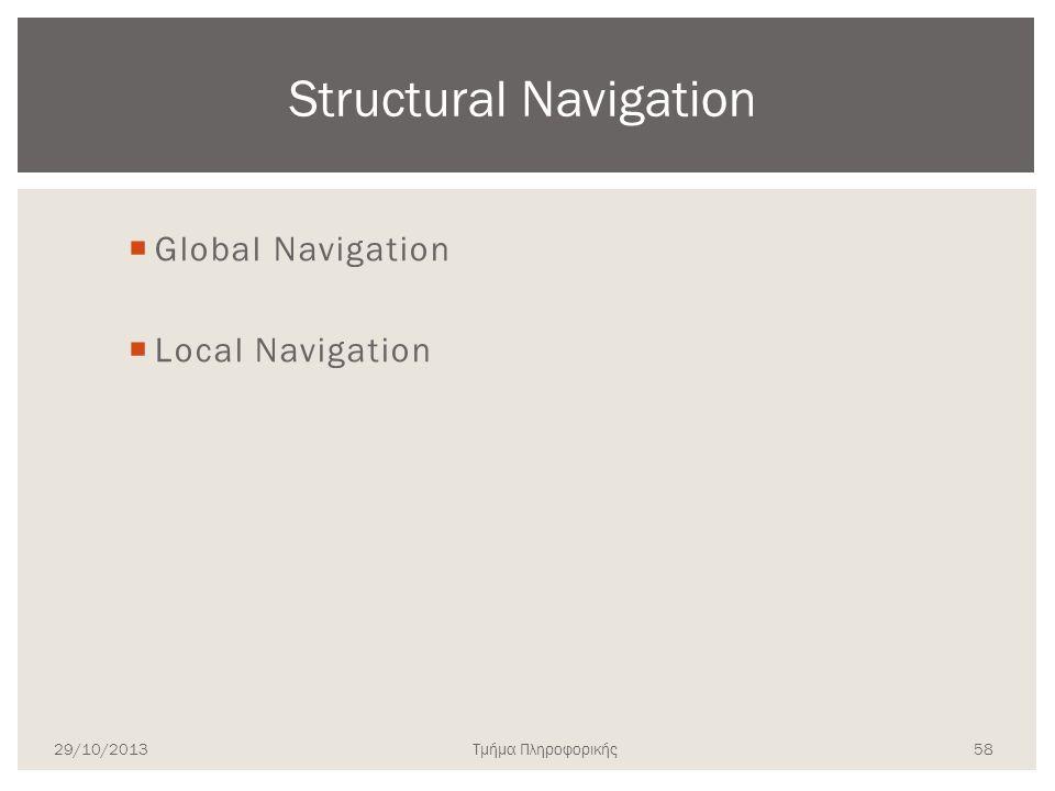 Structural Navigation