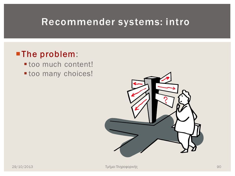 Recommender systems: intro