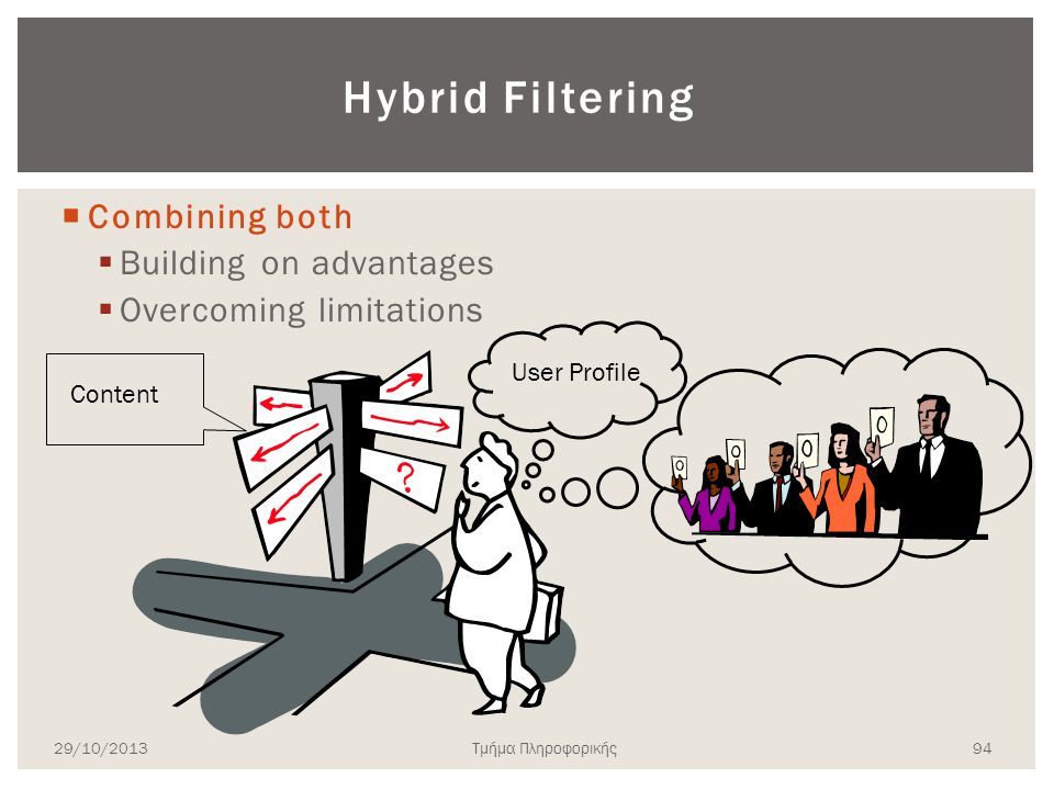 Hybrid Filtering Combining both Building on advantages